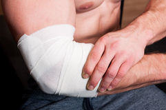 Elbow injury Stock Photography