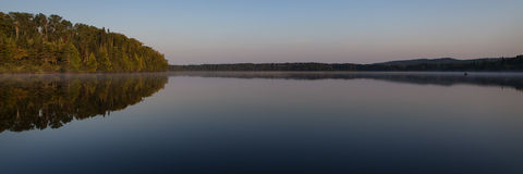 Elbow Lake. A calm morning on a lake in northern Minnesota Royalty Free Stock Photography