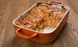 Elbow macaroni bake with zucchini Royalty Free Stock Image