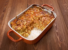 Elbow macaroni bake with zucchini Stock Photography