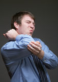 Elbow Pain Royalty Free Stock Photo