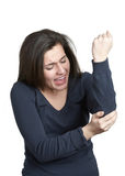 Elbow pain Stock Photo