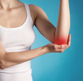 Elbow pain Stock Photos