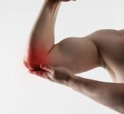Elbow pain Royalty Free Stock Photo