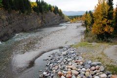 Elbow river valley in autumn Stock Photos