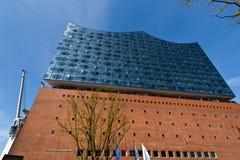 Elbphilarmonie und Hafencity in Hamburg stockbilder