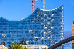 Elbphilharmonie易北河爱好音乐霍尔大厦在汉堡 库存图片