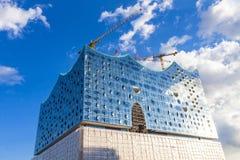 Elbphilharmonie易北河爱好音乐霍尔大厦在汉堡 图库摄影
