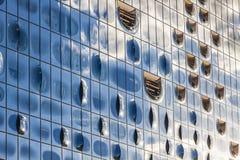 Elbphilharmonie易北河爱好音乐霍尔大厦在汉堡 免版税库存图片
