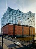 Elbphilharmonie στο ηλιοβασίλεμα Στοκ φωτογραφίες με δικαίωμα ελεύθερης χρήσης