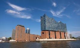 Elbphilharmonie, концертный зал в порте Гамбурга на Эльбе Германия hamburg стоковые фотографии rf