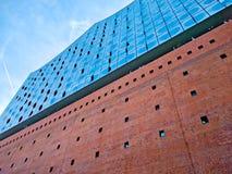 Elbphilharmonie на заходе солнца Стоковые Фото