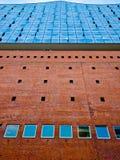 Elbphilharmonie на заходе солнца Стоковое Изображение RF
