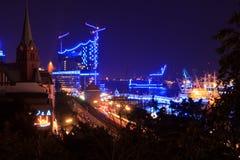 Elbphilharmonie blueport arkivfoto