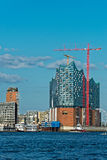 Elbphilharmonie. Building near the hamburg harbor Stock Images
