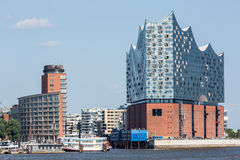 The Elbphilharmonie building in the port of Hamburg Royalty Free Stock Photography