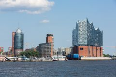 The Elbphilharmonie building in the port of Hamburg. HAMBURG, GERMANY - JUNE 6, 2016: The Elbphilharmonie building in the port of Hamburg on June 6, 2016. It is Royalty Free Stock Photo