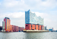Elbphilharmonie; a concert hall in the HafenCity quarter of Hamb Royalty Free Stock Image