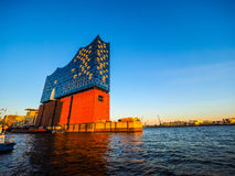 Elbphilharmonie concert hall in Hamburg hdr. HAMBURG, GERMANY - CIRCA MAY 2017: Elbphilharmonie concert hall designed by Herzog and De Meuron, hdr Stock Images