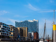 Elbphilharmonie concert hall in Hamburg hdr. HAMBURG, GERMANY - CIRCA MAY 2017: Elbphilharmonie concert hall designed by Herzog and De Meuron, hdr Stock Photos