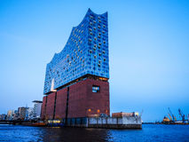 Elbphilharmonie concert hall in Hamburg hdr. HAMBURG, GERMANY - CIRCA MAY 2017: Elbphilharmonie concert hall designed by Herzog and De Meuron, hdr Stock Image