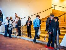 Elbphilharmonie concert hall plaza in Hamburg hdr Royalty Free Stock Image