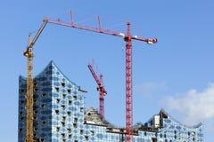 Elbphilharmonie construction site at Hamburg Stock Images