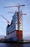Elbphilharmonie, Elbe - Filharmoniczny Hall Hamburg Obraz Stock