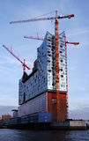 Elbphilharmonie - Elbe filharmoniska Hall Hamburg Fotografering för Bildbyråer
