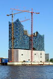 Elbphilharmonie - Elbe Philharmonic Hall. Construction site of the Elbe Philharmonic Hall (Elbphilharmonie) in the city of Hamburg, Germany on 21st of July 2013 Stock Photography