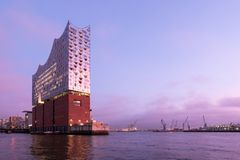 Elbphilharmonie. The Elbphilharmonie Elbe Philharmonic Hall in the HafenCity quarter of Hamburg. It is one of the largest and most acoustically advanced concert Royalty Free Stock Images