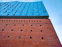 Elbphilharmonie. At sunset in spring Stock Photo