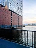 Elbphilharmonie. At sunset in spring Royalty Free Stock Photography