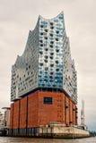 Elbphilharmonie eller elbe filharmonisk korridor, konserthall i Hamburg, Tyskland fotografering för bildbyråer