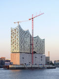 Elbphilharmonie in the Evening Stock Photography
