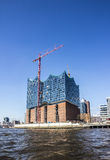Elbphilharmonie. The famous Elbphilharmonie in the harbour of hamburg, Germany. The building will have costed one billion Euros, once it is completed Royalty Free Stock Photo