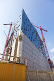 Elbphilharmonie in Hamburg. Construction site of the Elbphilharmonie in the port of Hamburg Stock Photos