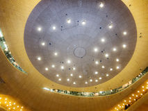 Elbphilharmonie Hamburg. Ceiling in the main concert hall of the Elbphilharmonie in Hamburg Royalty Free Stock Photo