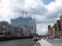 Hamburg, Germany. Elbphilharmonie. Elbphilharmonie, Hamburg city, panorama of the city royalty free stock image