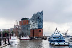 Elbphilharmonie Hamburg. Elbphilharmonie in the Hamburg Hafencity with two concert halls, one hotel, and the Plaza, which offers visitors an amazing view of the Stock Photography