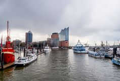 Elbphilharmonie Hamburg. Elbphilharmonie in the Hamburg Hafencity with two concert halls, one hotel, and the Plaza, which offers visitors an amazing view of the Royalty Free Stock Image