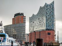 Elbphilharmonie Hamburg. Elbphilharmonie in the Hamburg Hafencity with two concert halls, one hotel, and the Plaza, which offers visitors an amazing view of the Stock Photo