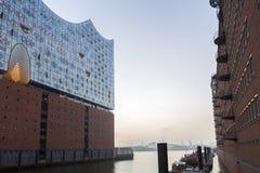 Elbphilharmonie Hamburg, Tyskland arkivfoto