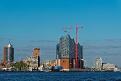 Elbphilharmonie. Near completion in Hamburg Germany Stock Images