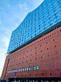 Elbphilharmonie på solnedgången Fotografering för Bildbyråer
