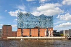 Elbphilharmonie on the river Elbe, Hamburg royalty free stock photo