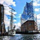Elbphilharmonie by the sea royalty free stock photos