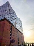 Elbphilharmonie at sunset. In spring Royalty Free Stock Photo