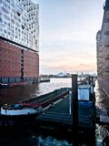 Elbphilharmonie. At sunset in spring Stock Images