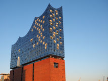Elbphilharmonieconcertzaal in Hamburg Stock Foto